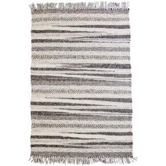 VENTURE DESIGN Alwar gulvtæppe - mørkegrå uld (170x240)