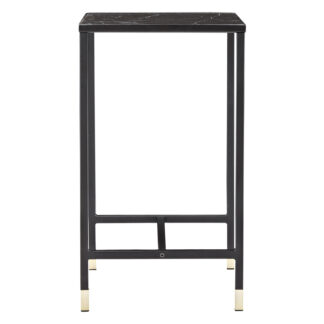 VENTURE DESIGN Dipp sidebord - sort glas og metal (40x40)