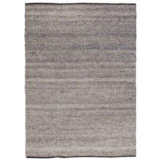 VENTURE DESIGN Ganga gulvtæppe - grå uld og bomuld (170x240)
