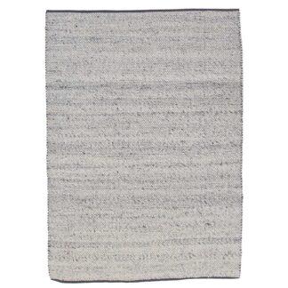 VENTURE DESIGN Ganga gulvtæppe - sølv uld og bomuld (200x300)