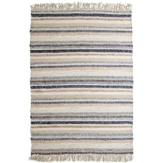 VENTURE DESIGN Gudha gulvtæppe - beige og blå uld (170x240)