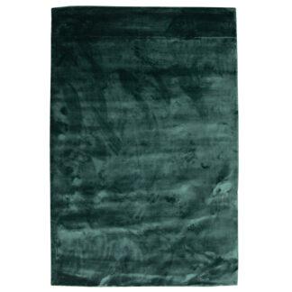VENTURE DESIGN Indra gulvtæppe - grøn viskose og bomuld (170x240)