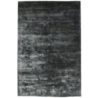 VENTURE DESIGN Indra gulvtæppe - grafitgrå viskose og bomuld (200x300)
