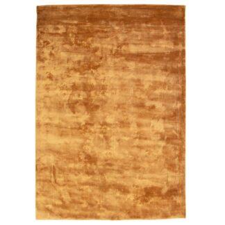 VENTURE DESIGN Indra gulvtæppe - sennepsgul viskose og bomuld (250x350)