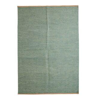 VENTURE DESIGN Jaipur gulvtæppe - olivengrøn uld og bomuld (170x240)