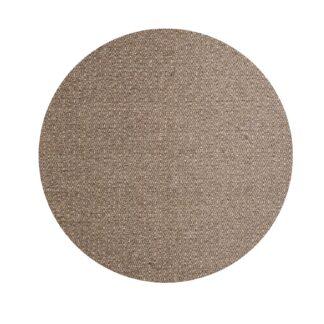 VENTURE DESIGN Julana gulvtæppe - brun uld og polyester (Ø200)