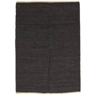 VENTURE DESIGN Kali gulvtæppe - sort jute (200x300)