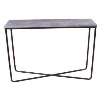 VENTURE DESIGN Palace sidebord - grå cement og sort metal (110x30)