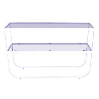 VENTURE DESIGN Rocker sidebord - grå glas og hvid metal (110x30)