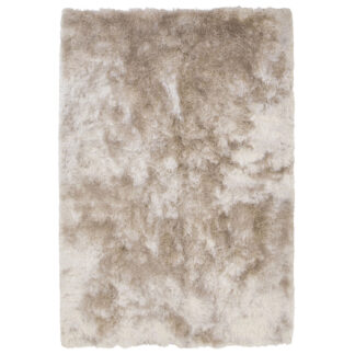VENTURE DESIGN Shiva Shaggy gulvtæppe - champagne polyester og bomuld (200x300)