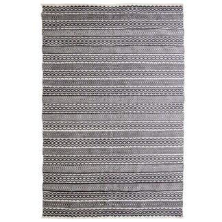 VENTURE DESIGN Sishu gulvtæppe - lysegrå uld og bomuld (170x240)