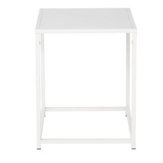 VENTURE DESIGN Staal sidebord - hvid stål