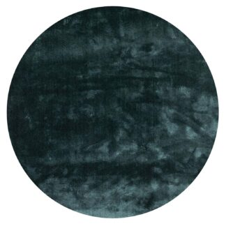 VENTURE DESIGN Undra gulvtæppe - grøn viskose (Ø200)