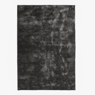 VENTURE DESIGN Undra gulvtæppe - mørkegrå viskose (170x240)