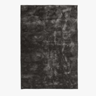 VENTURE DESIGN Undra gulvtæppe - mørkegrå viskose (250x350)
