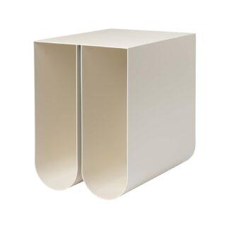 KRISTINA DAM STUDIO Curved sidebord - beige stål (35,5x26)