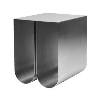 KRISTINA DAM STUDIO Curved sidebord - rustfrit stål (35,5x26)