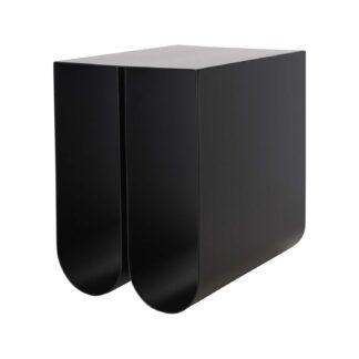 KRISTINA DAM STUDIO Curved sidebord - sort stål (35,5x26)