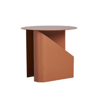 WOUD rund Sentrum sidebord - orange metal (Ø40)