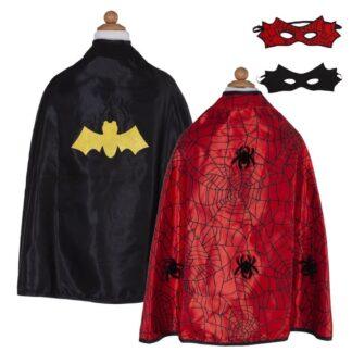 Great Pretenders vendbar kappe - spiderman/batman