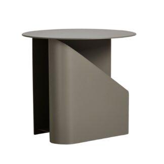 WOUD rund Sentrum sidebord - taupe metal (Ø40)