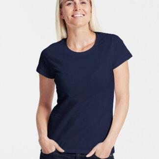 Neutral Økologisk Dame Klassisk T-Shirt (Navy, 2XL)