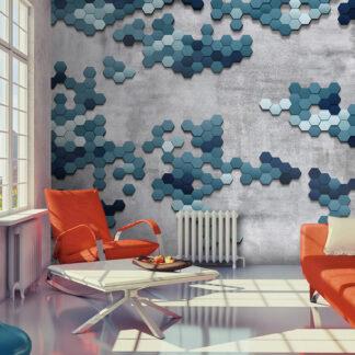 ARTGEIST Fototapet af puslespil i havets farver - Sea puzzle (flere størrelser) 300x210