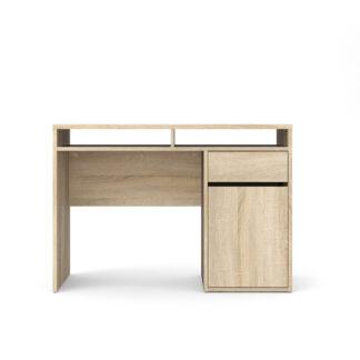 Function Plus skrivebord - trøffel træ, m. 1 låge og 1 skuffe