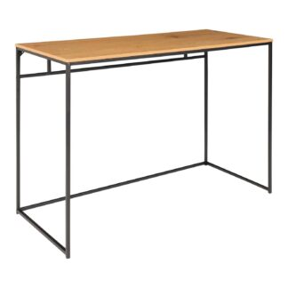 HOUSE NORDIC Vita skrivebord - natur melamin og sort stål (100x45)