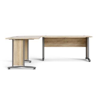Prima skrivebord - egestruktur, stål stel