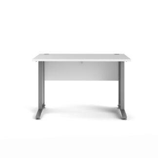 Prima skrivebord - hvid træ, 80x120