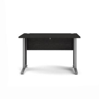 Prima skrivebord - sort askefinér, 80x120
