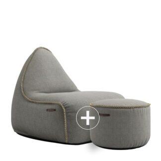SACKit Sækkestol + Puf - Medley Loungesæt - Grey