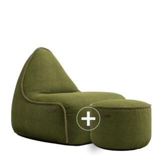 SACKit Sækkestol + Puf - Medley Loungesæt - Moss