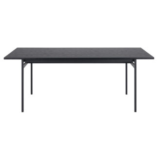 ACT NORDIC Angus spisebord - sort melamin ask og sort metal (200x90)