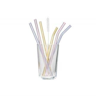 Glas Sugerør Pastel