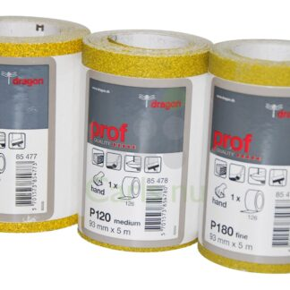 Sandpapirsrulle 93mmx5m Korn P180