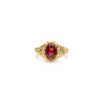 Frederik IX Crunchy Ornate ring - DMN0314GDRG Forgyldt 54