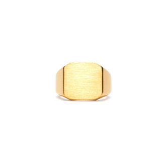 Frederik IX Octagon signet ring - DMN0290GD Forgyldt 56