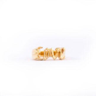 Frederik IX forgyldt Love ring - DMN0305GD Forgyldt 56