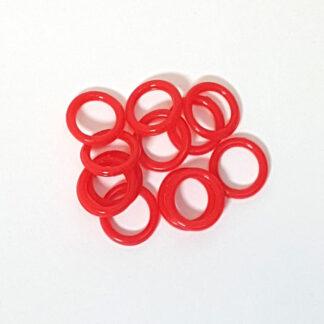 Gardinringe/Plastringe - Rød 11 mm