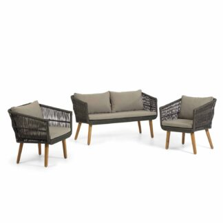 LAFORMA Inti set with 2-seater sofa and 2 armchairs in green cord