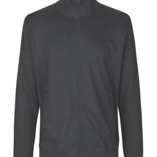 Neutral Organic - Unisex High Neck Jacket w. Zip (Charcoal, S)