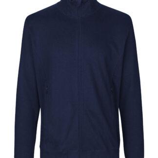 Neutral Organic - Unisex High Neck Jacket w. Zip (Navy, L)
