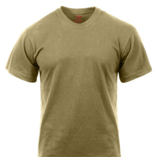 Rothco Bomulds T-Shirt (Coyote Brun, S)