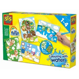 SES Creative mal med vandfarver - skjulte dyr