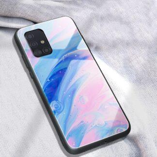 Samsung Galaxy A51 - Hardcover med hærdet glas bagside i Marmor Design - Style E