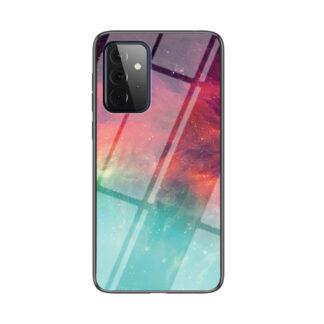 Samsung Galaxy A72 - Hybrid cover med bagside af hærdet glas - Farverig himmel