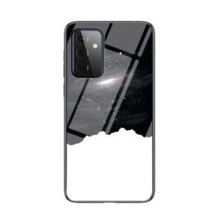 Samsung Galaxy A72 - Hybrid cover med bagside af hærdet glas - Kosmisk himmel