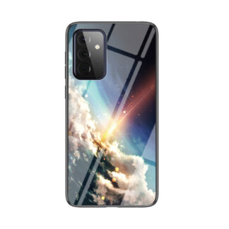 Samsung Galaxy A72 - Hybrid cover med bagside af hærdet glas - Meteor
